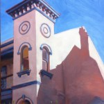 Italianate mansion, Annandale, National Trust bldg. - Painted by Rubi Cassidy 11.30am