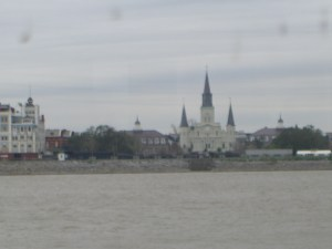 View from the ferry, coming from Algiers, West Bank. That's where we lived the 2nd go around. (It was a NOLA zip-code, mind you.)