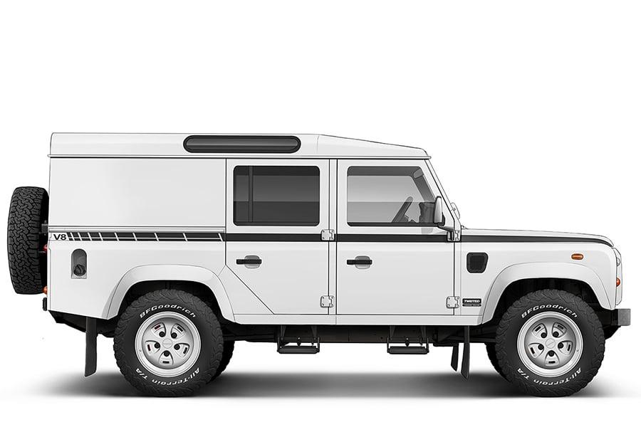 Restomod Land Rover Defender vehicle