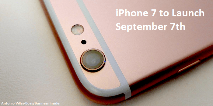 iPhone 7 launch date confirmed!