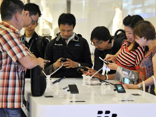 Blackberry Z10 phone launch event