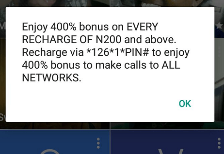 400% Airtel Bonus Offer