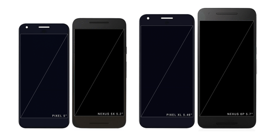 Google's Pixel compared to Nexus line-up
