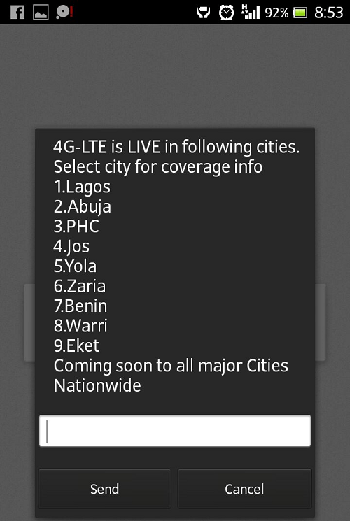 Glo 4G LTE coverage areas