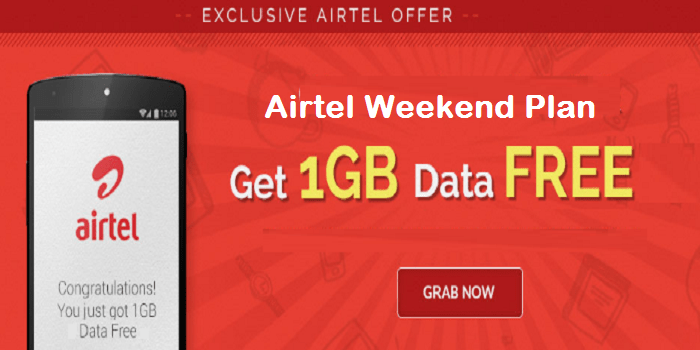 Free 1GB Weekend Plan to Subscribers