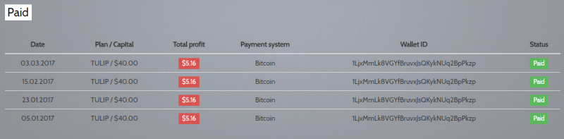 FloralInvestment proof of payment