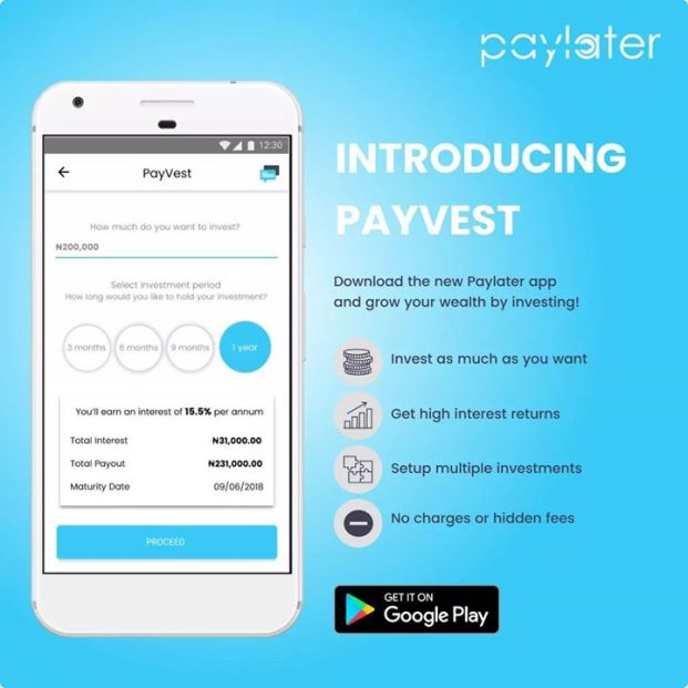 Earn Real Returns on Paylater, with PayVest!