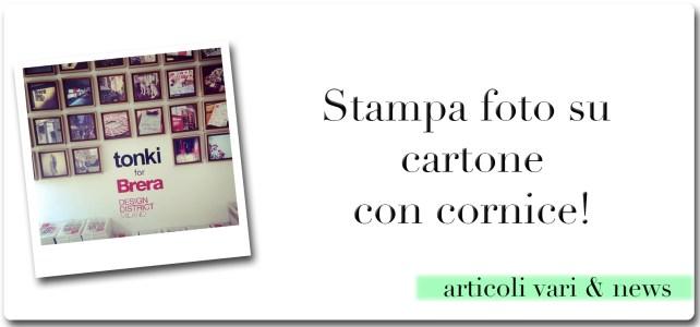 Stampa foto su cartone con cornice!