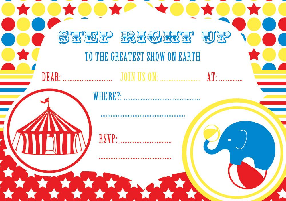 FREE Circus Party Invitation
