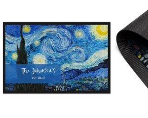 Van Gogh Starry Night Personalised 2mm Ultra Thin Door Mat