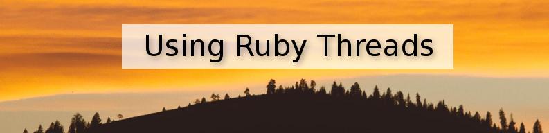 ruby threads & multi-threading