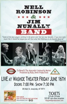 Nell Robinson & Jim Nunally Band at Washoe Theater