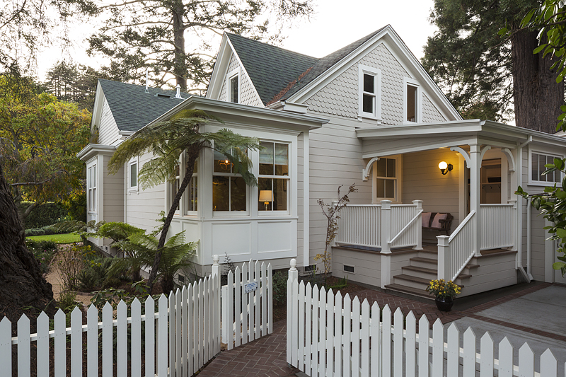This historic home seems like it's come right out of a movie--trim and clean.