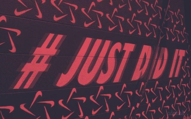 """A """"# JUST DID IT"""" graffiti"""