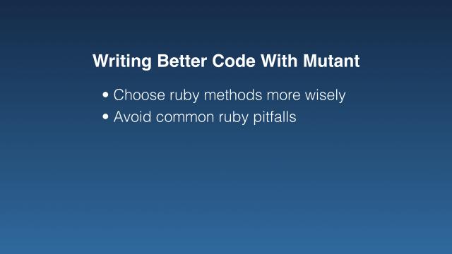Avoid common ruby pitfalls (bullet point)