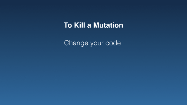 Change your code (bullet point)