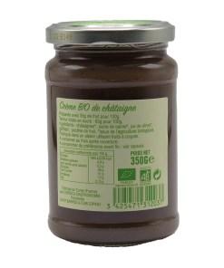 creme de chataigne bio corsica gastronomia ingredients 350g 02