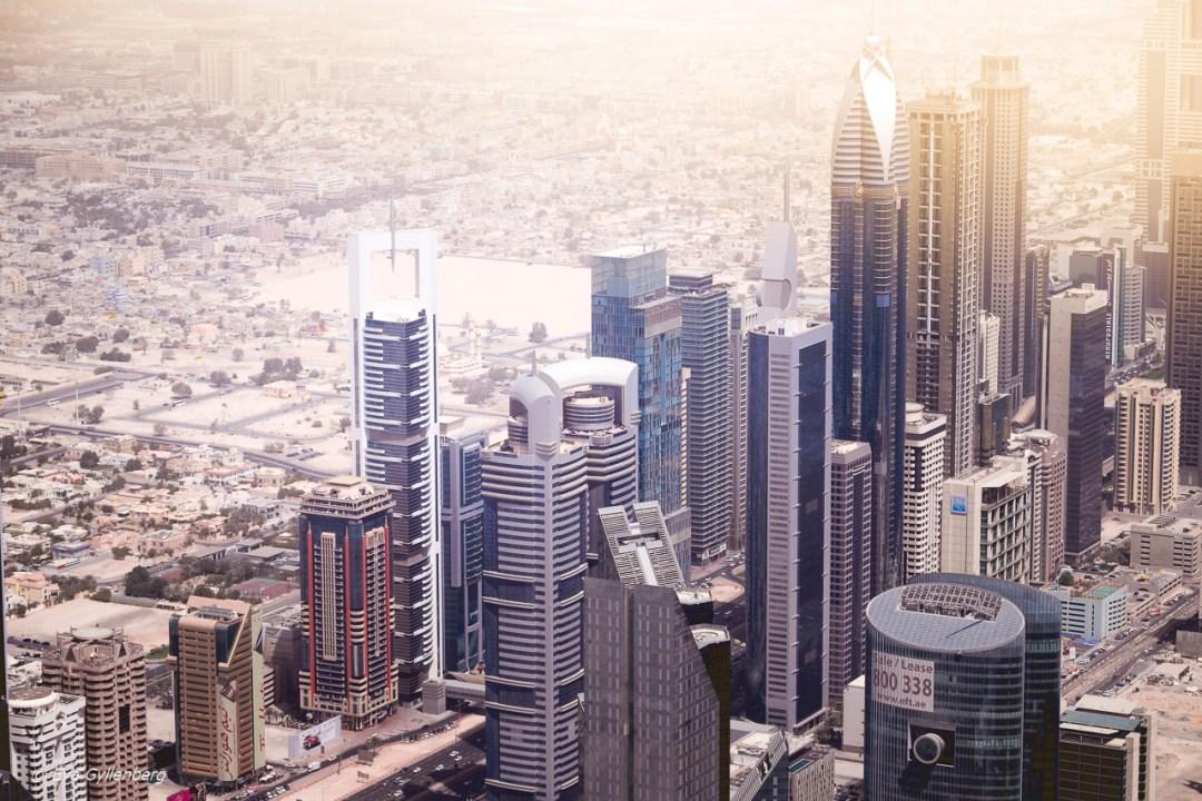 Utsikt från Burj Khalifa - Dubai - UAE
