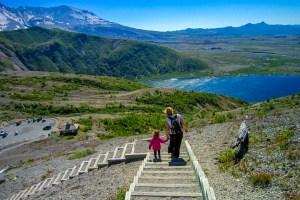 Vandring på Mount St Helens