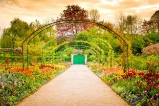 Normandie-Frankrike-Monets trädgård
