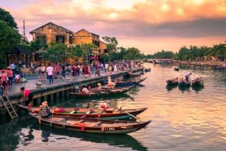Floden i Hoi An, Vietnam