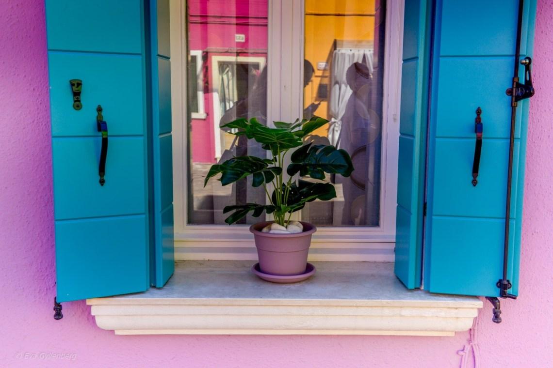 Lavendelfärgat hus i Burano - Venedig - Italien