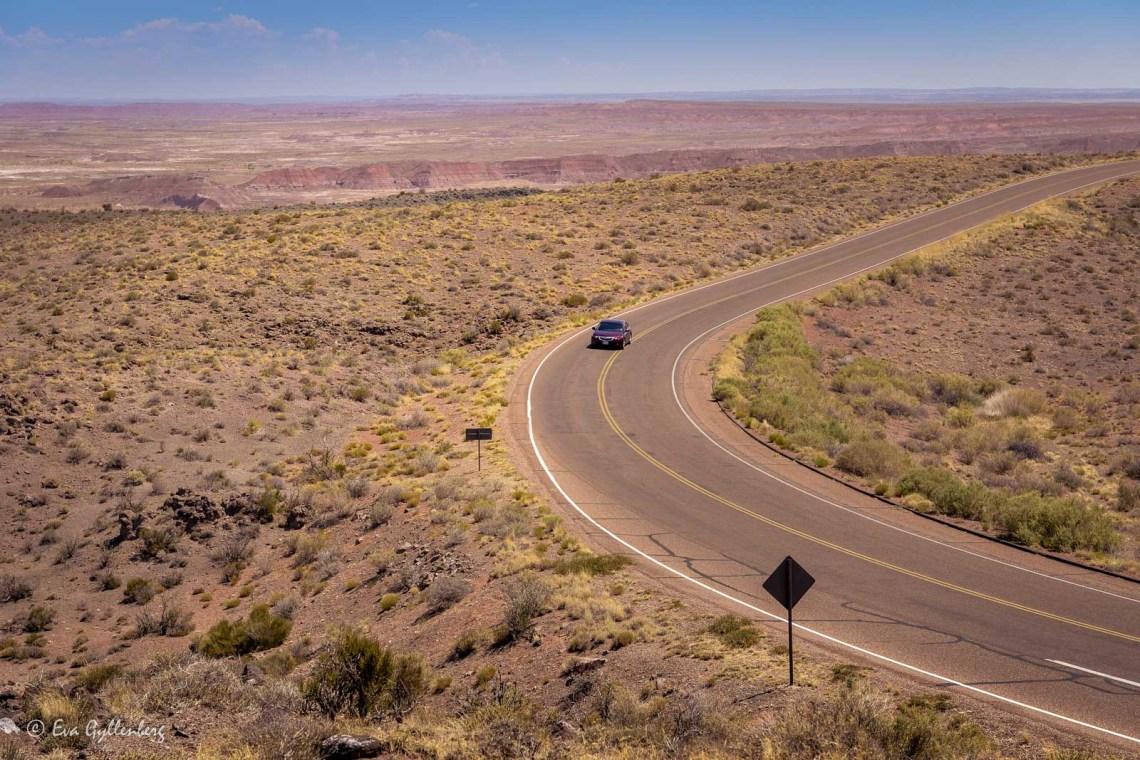 Bilväg i Arizona