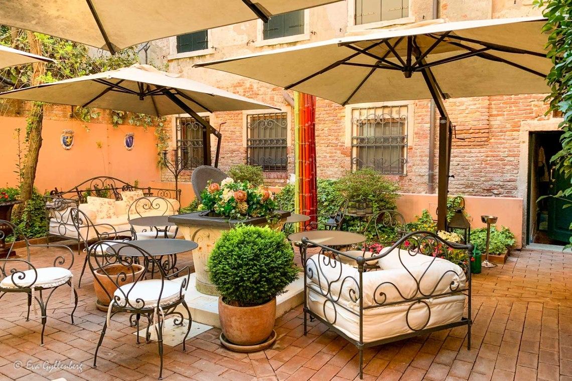 Innergården på Palazzetto Madonna