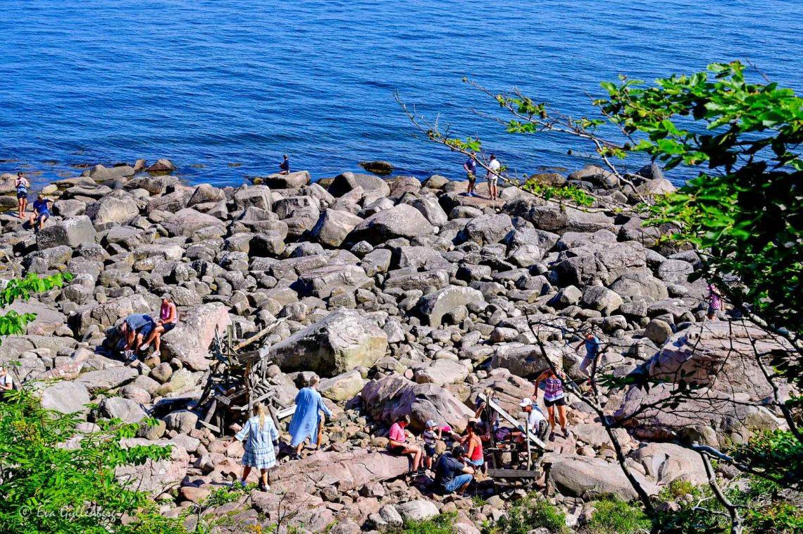 Rocks by the sea at Nimis on the Kulla Peninsula