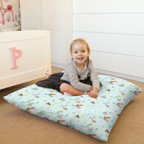 boo mermaid play kids beanbag floor cushion
