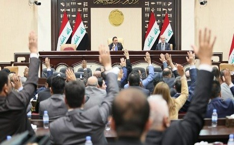 A Sunni MP said that more than 80 percent of Anbar has been destroyed and yet only 139 billion dinars has been allocated to rebuild the province. Photo: Iraqi parliament