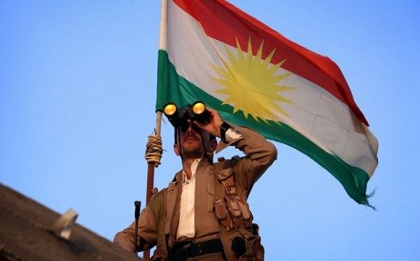 Image result for Kurdish  flag, uniform patch
