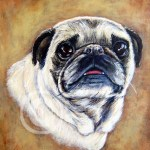 Pug Pet Portrait Painting