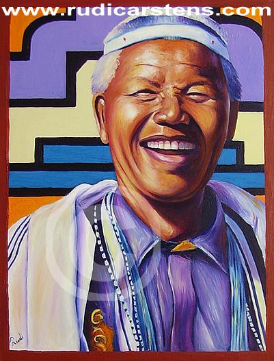 Oil Painting of Nelson Mandela