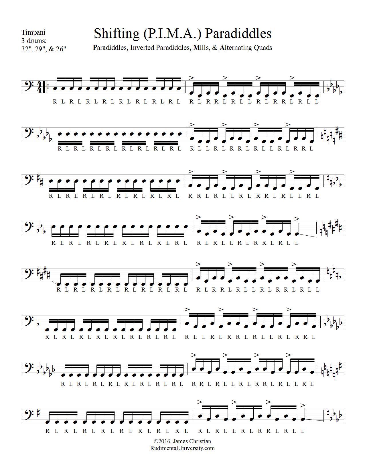 drumline cadence sheet music pdf