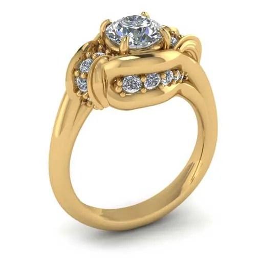 custom design ring - Yellow Gold Diamond Ring
