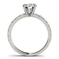 Single Row Engagement Ring
