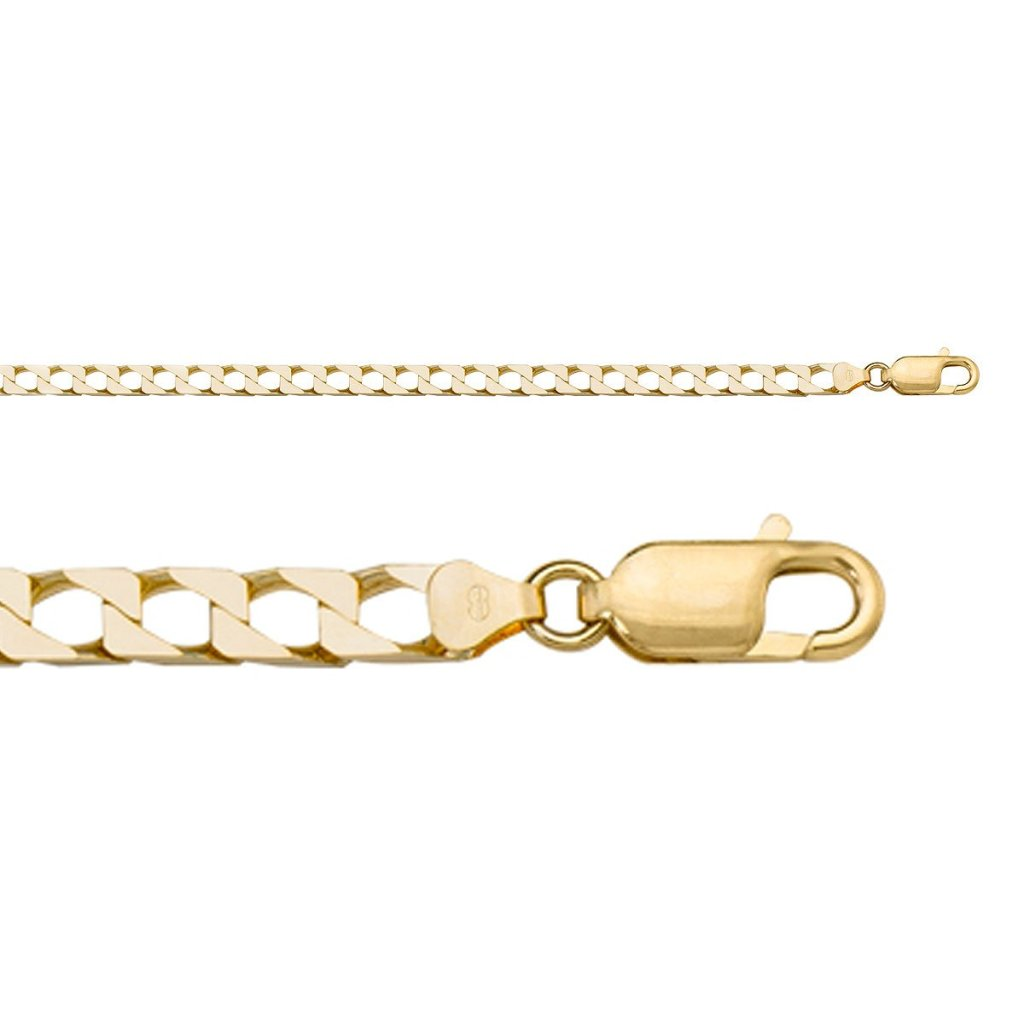 Suare Link Yellow Gold Chain