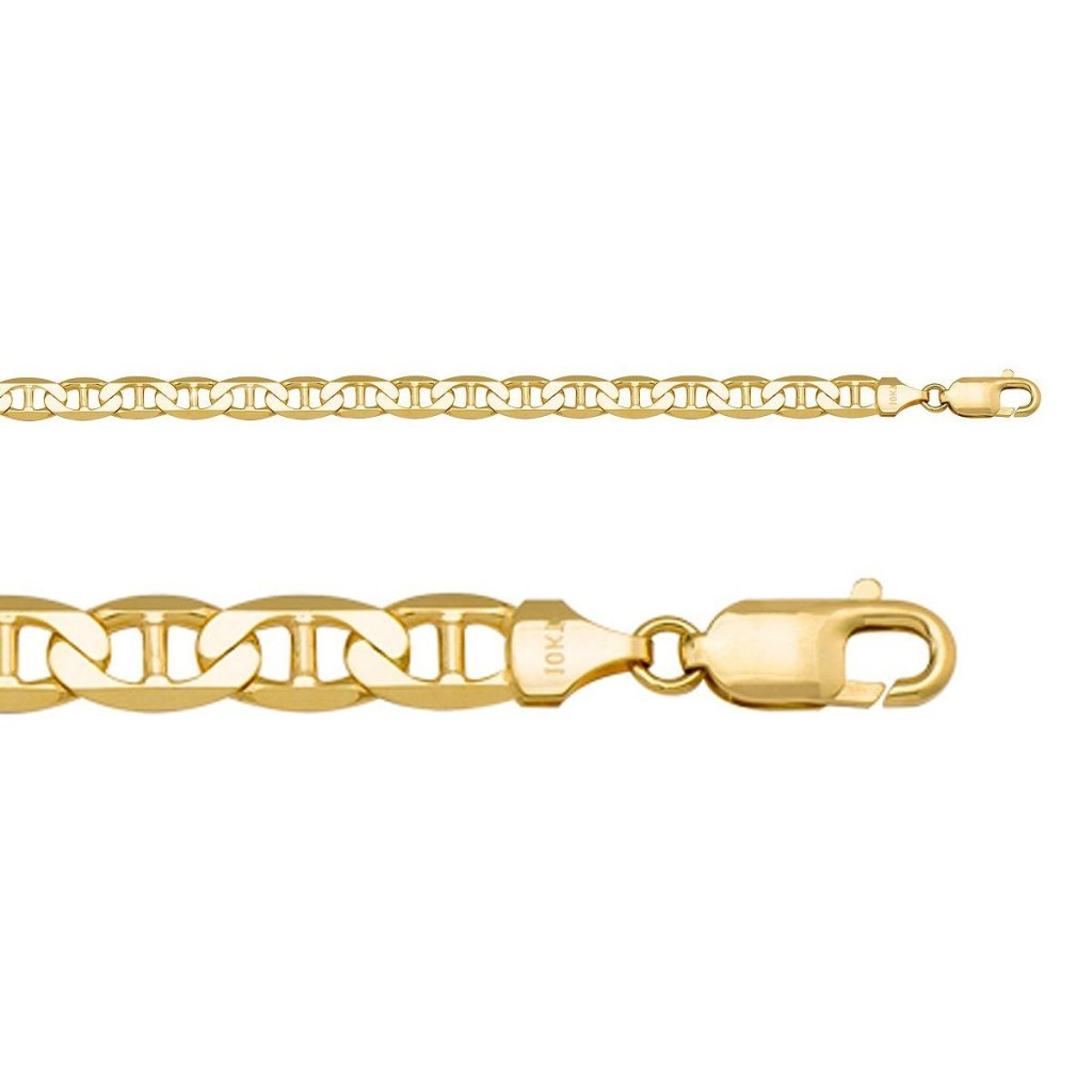 yellow gold hollow flat chain