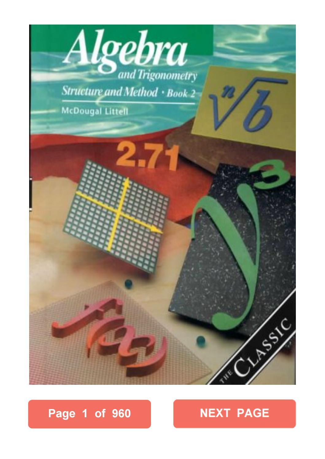 Algebra 1 Textbook Mcdougal