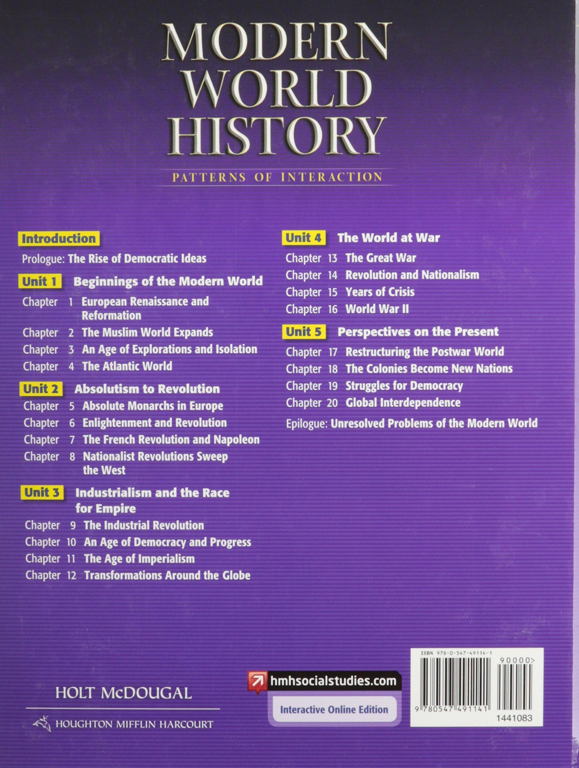 Modern World History Textbook Holt Mcdougal