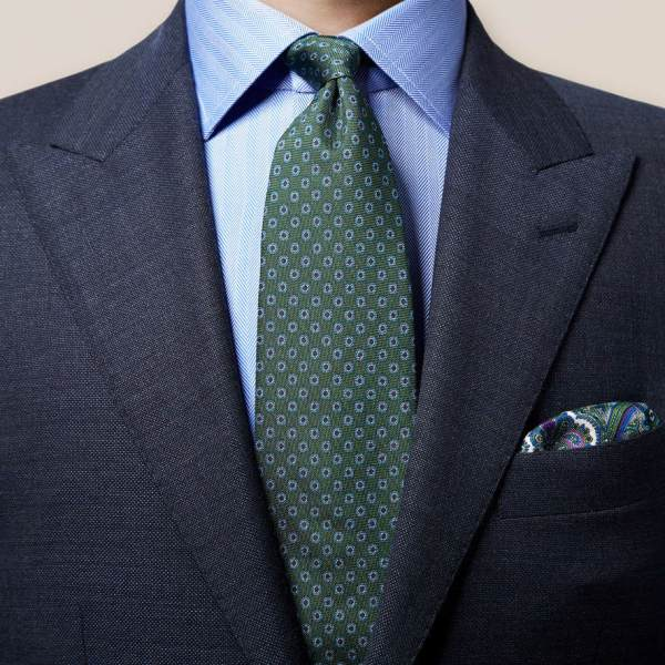 Krawatte, Eton, Herrenmode, Herrenmodetrends, Farbe grün