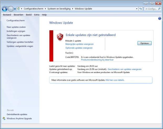 Windows Update werkt niet meer