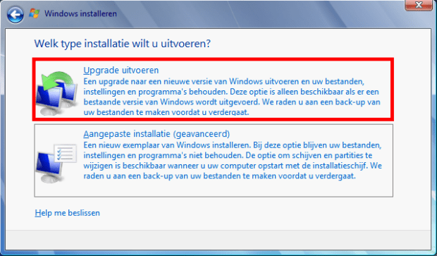 Upgrade Windows7