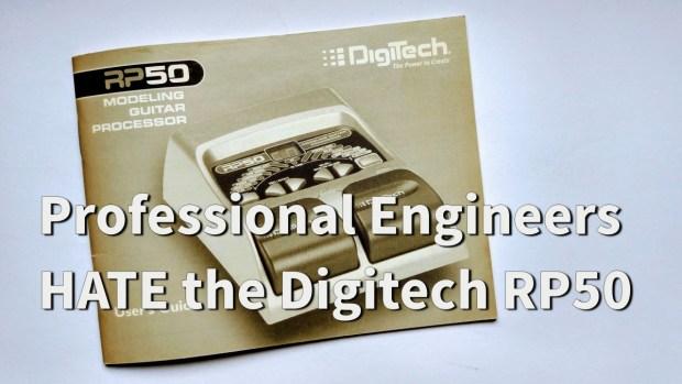 digitech rp50 multi effects pedal