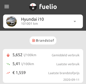 benzineverbruik hyundai i10