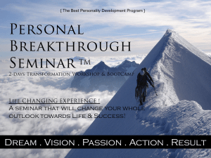 personal breakthrough seminar