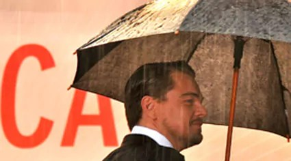 Leonardo di Caprio - Cannes mouillée