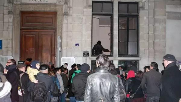 Enfants à la rue à Lyon: action coup de poing et gaz lacrymo au collège Truffaut