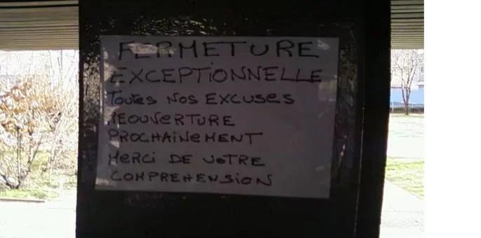 A Grenoble, des dealers annoncent «la fermeture exceptionnelle» de leur point de vente par une affichette